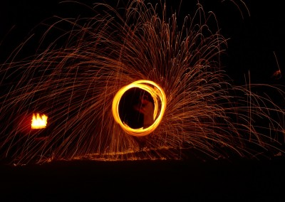 Wire Wool Fire Poi